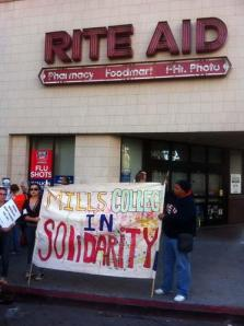 Some businesses, such as the Rite Aid pharmacy at 14th and Broadway, shut down.