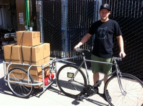 Bicycle Coffee delivery