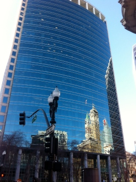 Downtown Oakland reflection