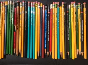 A rainbow of pencils.