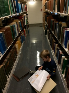 So many books, so little time! He would've brought them all home if he could.