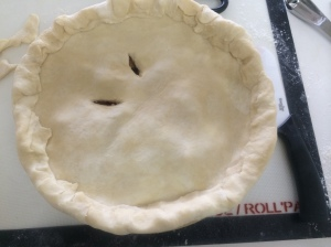 A sealed pie needs steam vents in the top.