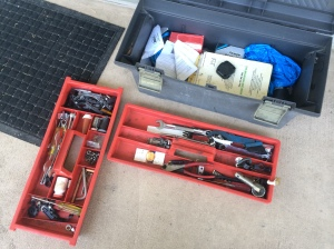 My tools in my toolbox. But something is missing!