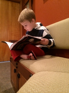 Kieran warmed up by reading a book about tarantulas in the museum.